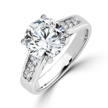 2 6CT Serendipity Cheap Engagement Ring CZ