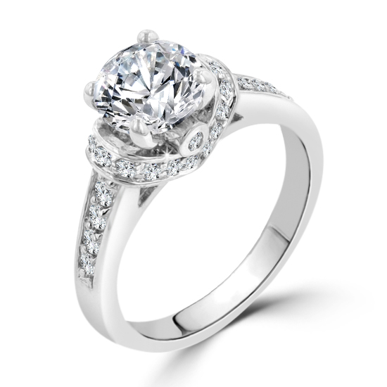 Silver Engagement Regal Cz 1ct 3 Contemporary Ring ulJ5TKF1c3