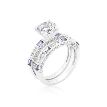 and Tanzanite NonDiamond Set NonDiamond Engagement Ring 26CT