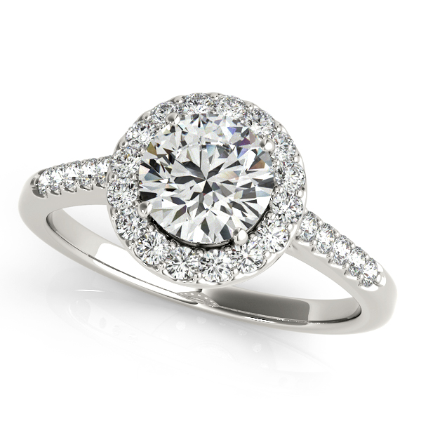 Attractive Clic Round Cut Halo Diamond Engagement Ring