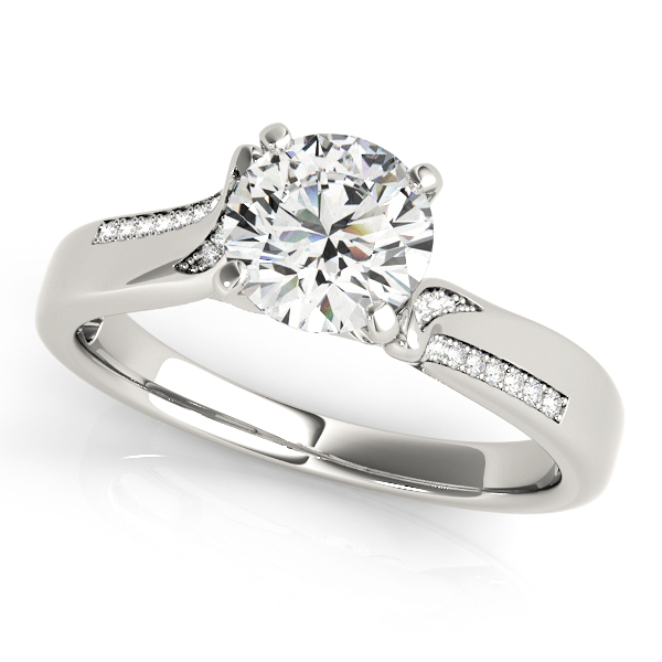 b3bfc20ee Exclusive Italian Design Diamond Engagement Ring with Accents