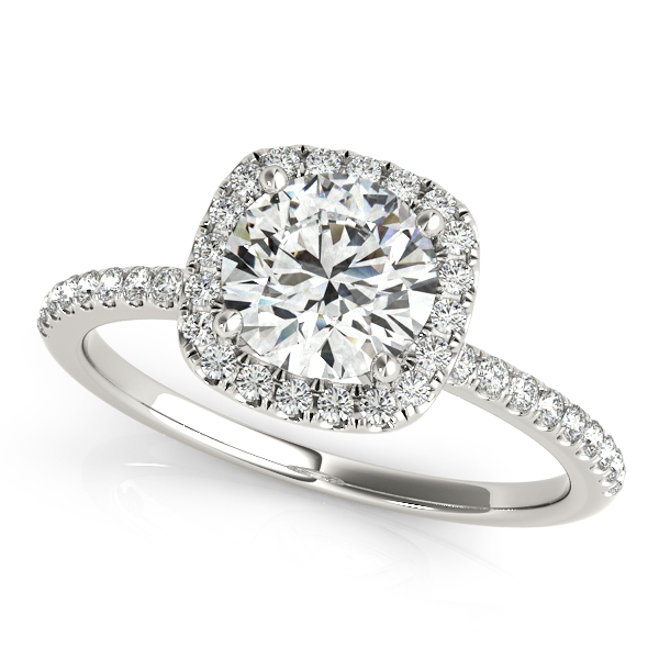 rings square shaped diamond ring engagement pave