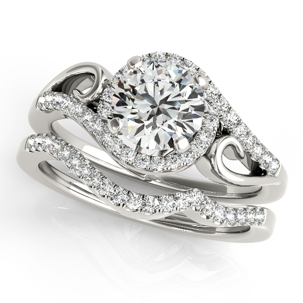 Cheap Diamonds Wedding Rings: Two Tone Split Shank Diamond Engagement Ring