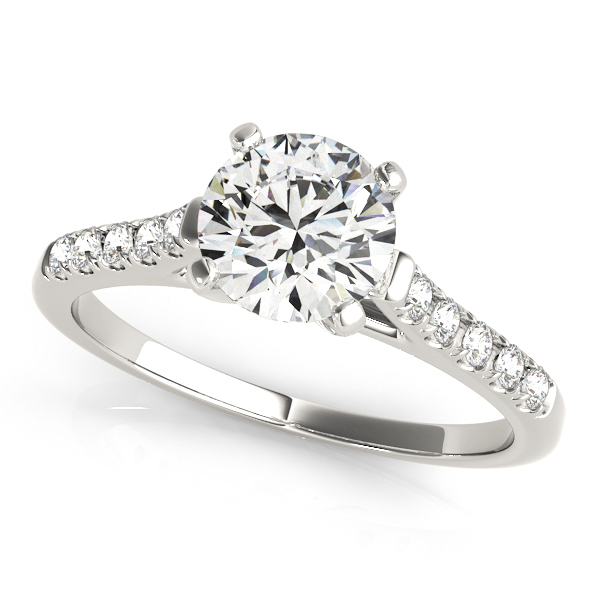 side stone bridge engagement ring - Cheap Wedding Rings For Women