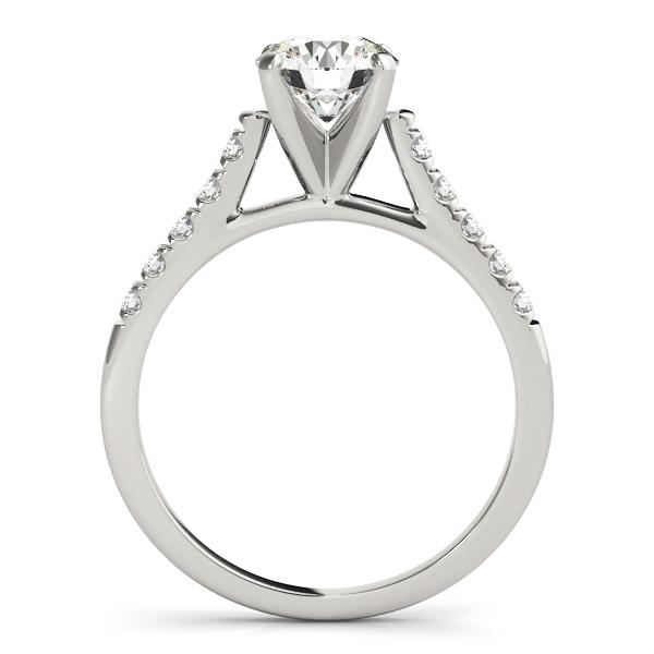 Side Stone Bridge Engagement Ring