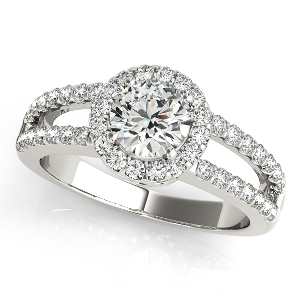 halo engagement ring vintage shank - Affordable Wedding Rings