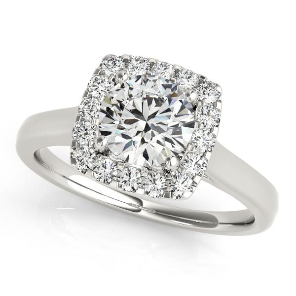 Beautiful Halo Engagement Ring Stylish Round Cut Diamonds 28d64a112