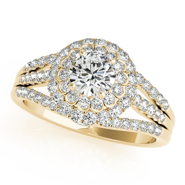 c0644c8dacd94 Halo Engagement Ring Duet Three Rows of Side Stones