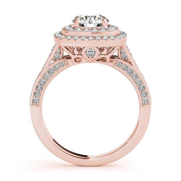 Rose Gold Engagement Rings Ring Vintage Halo Filigree