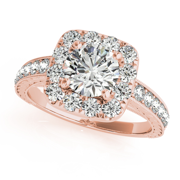Black Gold Pink Diamond Engagement Rings