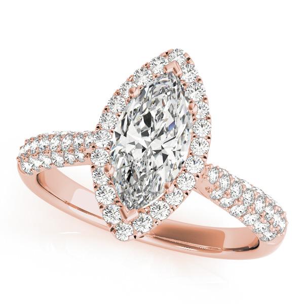 Rose Gold Engagement Rings Diamonds & Cubic Zirconia CZ