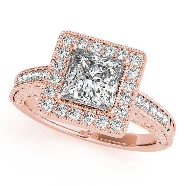 Rose Gold Engagement Rings Diamonds & Cubic Zirconia CZ