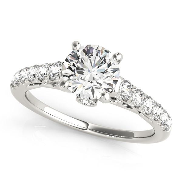Round Accent With Vintage Ring Bezel Diamond Engagement nN8wm0