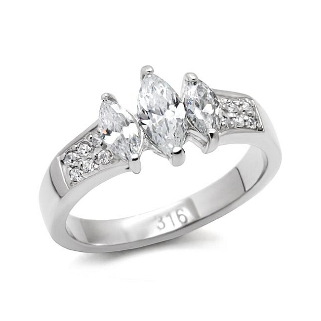 Stainless Steel Diamond Engagement Rings Engagement Ring Stainless