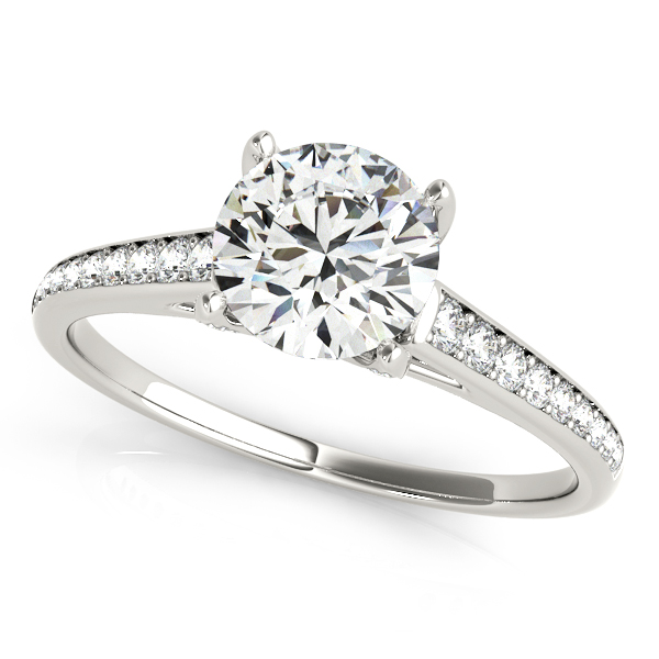 Diamond Engagement Rings in White Gold 14k 18k