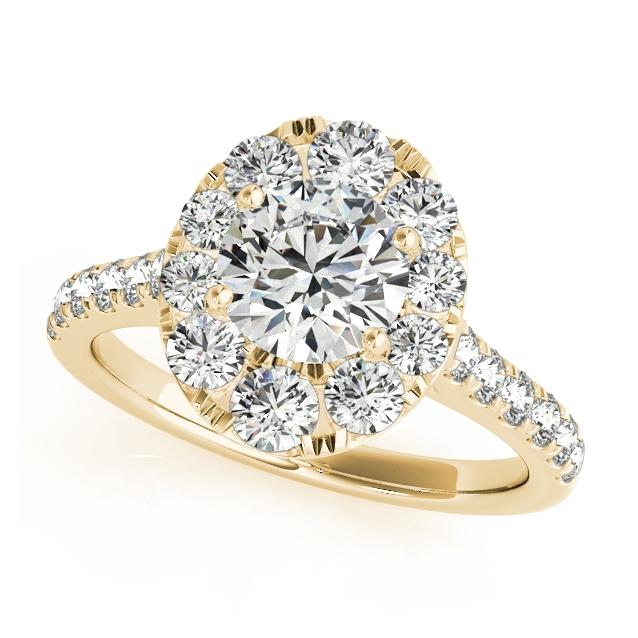 Yellow Gold Engagement Rings 14k 18k Diamonds CZ