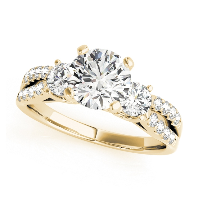 p ring cut fishtail c engagement diamond set gold rings halo yellow with lamore jewellery